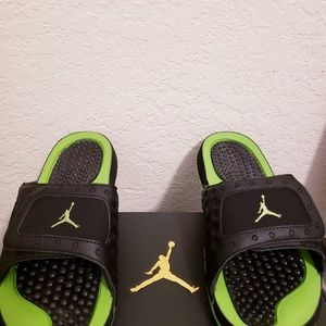 the latest 8bc6c aeef0 Jordan Shoes - New Jordan Hydro XIII 13 Retro Altitude Green Blk